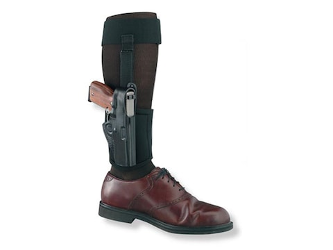 Gould & Goodrich B816 Ankle Holster Right Hand Glock 43 Leather Black