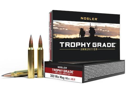 Nosler Trophy Grade Ammunition 300 Winchester Magnum 190 Grain AccuBond Long Range Box ...
