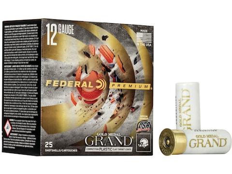 """Federal Premium Gold Medal Grand Plastic Ammunition 12 Gauge 2-3/4"""" 7/8 oz"""