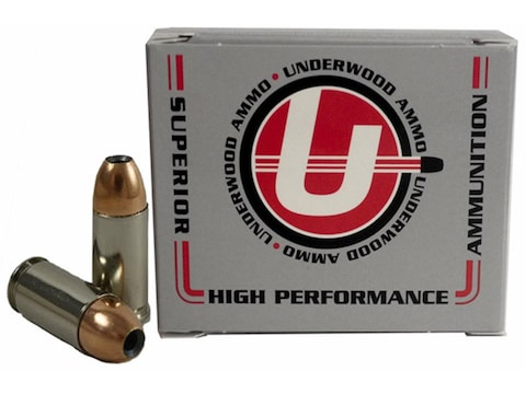 Underwood Ammunition 9mm Luger +P 124 Grain Jacketed Hollow Point Box of 20
