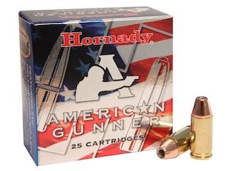 Hornady American Gunner Ammunition 9mm Luger +P 124 Grain XTP Jacketed Hollow Point Box of 25