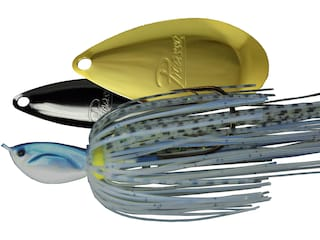 Picasso Super Strong Inviz Wire Willow/Indiana Spinnerbait 1/4oz Blue Glimmer Shad Nickel/Gold