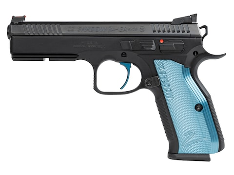 "CZ-USA CZ Shadow 2 SA 9mm Luger 4.89"" Barrel 17-Round Steel With Blue Grips"