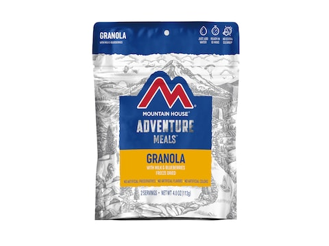 Mountain House Granola with Milk & Blueberries Freeze Dried Food 2 Serving