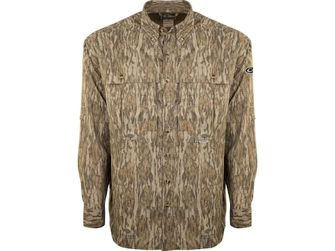 Drake Men's Camo Flyweight Wingshooter's Long Sleeve Shirt Polyester