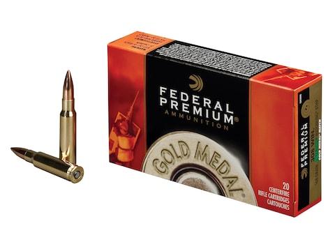 Federal Premium Gold Medal Ammunition 308 Winchester 168 Grain Sierra MatchKing Hollow ...