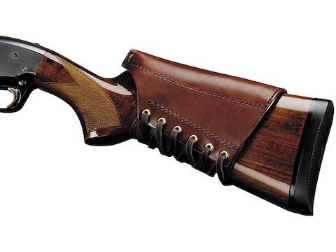 Triple K Shotgun/Rifle Cheek Rest Leather Brown