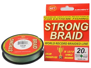 Ardent Strong Braided Fishing Line 20lb 150yd Green