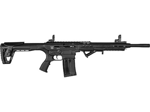 "Landor Arms AR-Style 12 Gauge Semi-Automatic Shotgun 18.5"" Barrel Black and Black Adjus..."