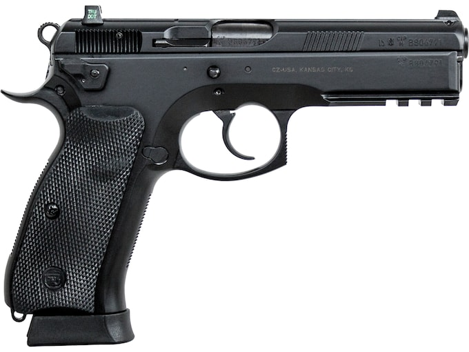 "CZ 75 SP-01 Tactical Pistol 9mm Luger 4.6"" Barrel Night Sights 18-Round Polycote Rubber"