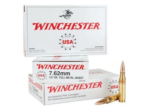 Winchester USA Ammunition 7.62x51mm NATO 147 Grain Full Metal Jacket