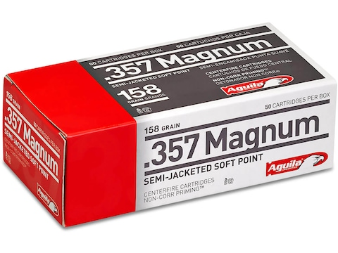 Aguila Ammunition 357 Magnum 158 Grain Semi-Jacketed Soft Point