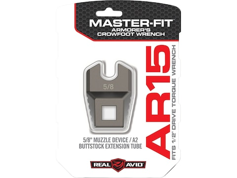 """Real Avid Master-Fit Muzzle Device, A2 Buttstock Extension Tube Wrench5/8"""""""