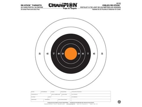 "Champion Re-Stick 25 Yard Pistol Slowfire Self-Adhesive Targets 14.5"" x 14.5"" Paper Pac..."