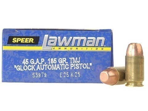Speer Lawman Ammunition 45 GAP 185 Grain Total Metal Jacket