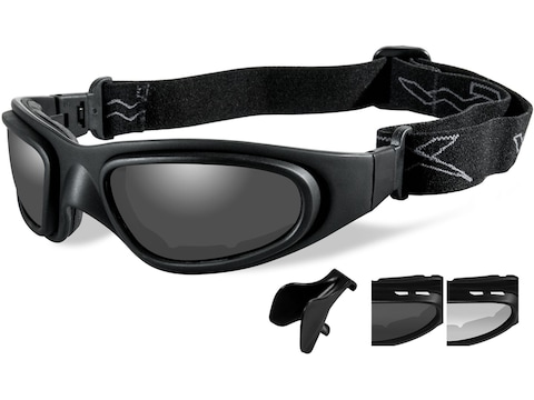 Wiley X SG-1-Asian Fit Tactical Goggles Matte Black Frame/Smoke Gray & Clear Lens