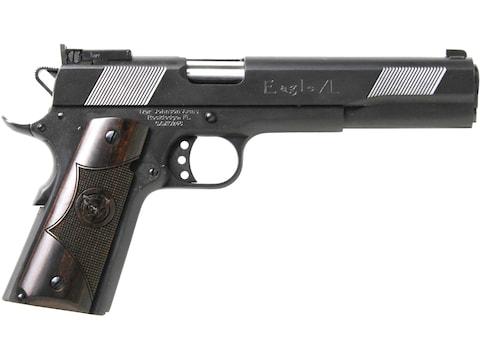"Iver Johnson Eagle XL Pistol 6"" Barrel, 8-Round Matte Blue, Iver Johnson Delux Checkere..."