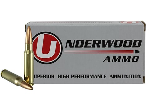 Underwood Match Grade Ammunition 308 Winchester 168 Grain Hollow Point Boat Tail Box of 20