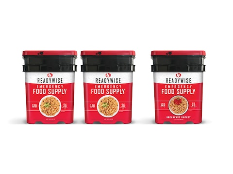 ReadyWise 360 Serving Vegetarian Entree and Breakfast Freeze Dried Food Kit