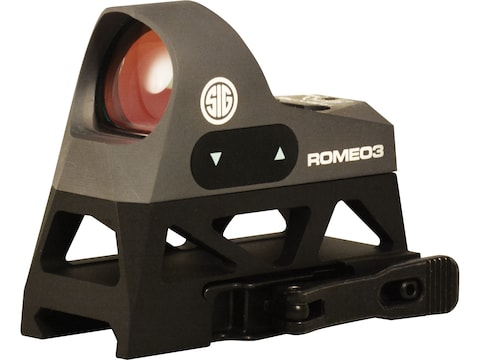 Sig Sauer ROMEO3 Reflex Sight 1x 25mm 1 MOA Adjustments 3 MOA Dot Reticle Picatinny-Sty...