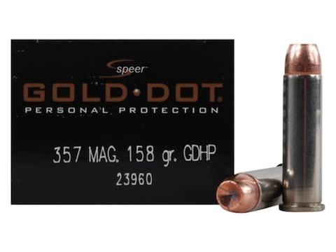 Speer Gold Dot Ammunition 357 Magnum 158 Grain Jacketed Hollow Point