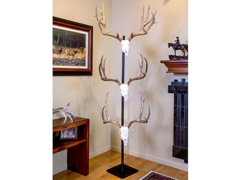 Skull Hooker Trophy Tree Display Steel Black