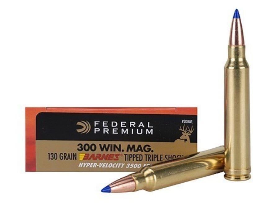 Federal Premium Hyper Velocity Ammo 300 Winchester Mag 130 Grain