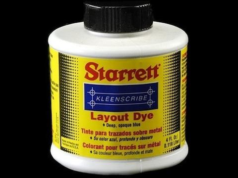 Starrett Kleenscribe Layout Dye 4 oz Liquid
