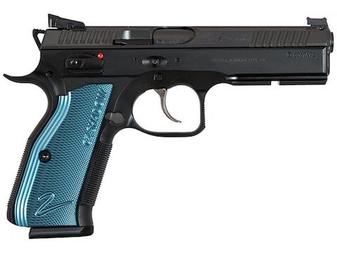 "CZ-USA CZ Shadow 2 9mm Luger 4.89"" Barrel Black Slide Blue Grips 17-Round"
