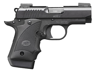 """Kimber Micro 9 Nightfall (DN) Pistol 9mm Luger 3.15"""" Barrel 7-Round Black with TRUGLO TFX Pro Sights and Hogue WrapAround Grip Black"""