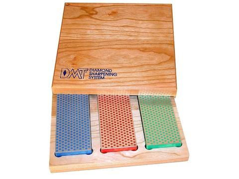 "DMT Sharpeners 6"" Diamond Whetstone Kit with Hard Wood Box Coarse, Fine, Extra Fine"
