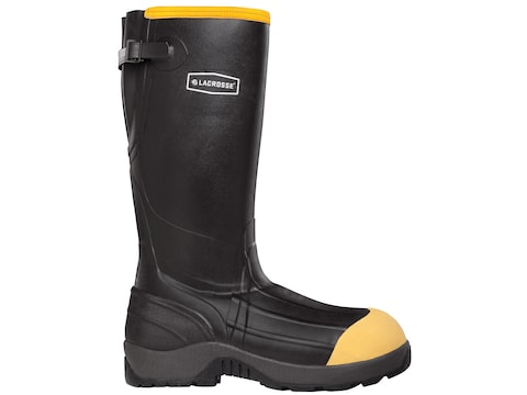 "LaCrosse Alpha Aggressive 16"" Non-Metallic Safety Toe Work Boots Rubber Black Men's"