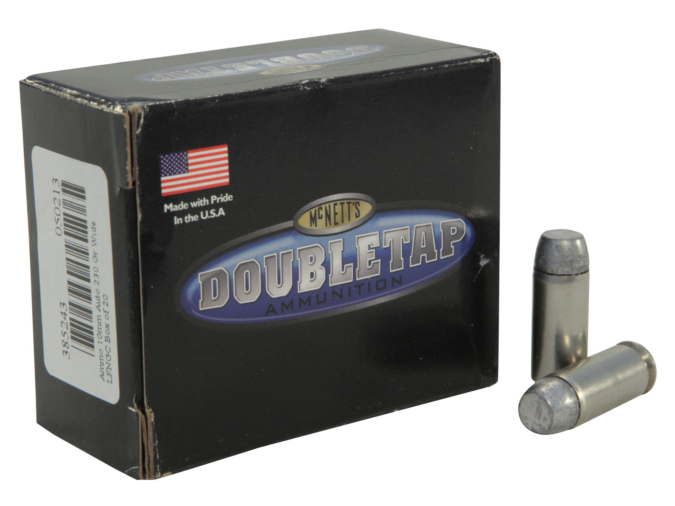 DoubleTap Ammo 10mm Auto 230 Grain Hardcast Wide Flat Nose Gas Check