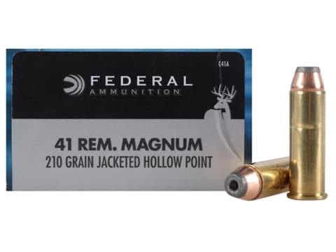 Federal Power-Shok Ammunition 41 Remington Magnum 210 Grain Jacketed Hollow Point Box o...