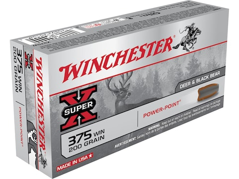 Winchester Super-X Ammunition 375 Winchester 200 Grain Power-Point Box of 20