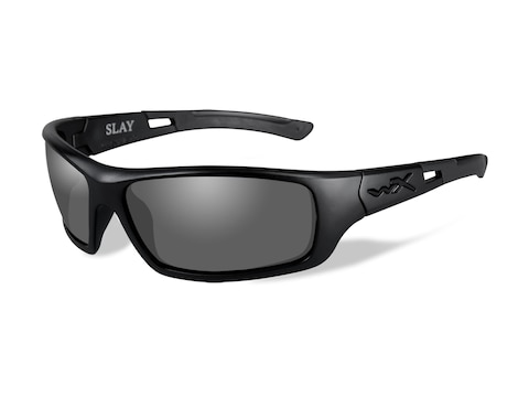 Wiley X Slay Polarized Sunglasses Gloss Black Frame Smoke Gray Lens