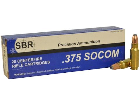 SBR Ammunition 375 SOCOM 200 Grain Sierra ProHunter Flat Point Box of 20