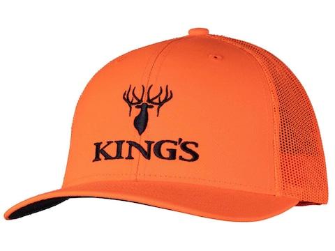 King's Camo Men's Logo Hat Cotton Blaze Orange One Size Fits Most