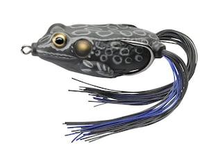 "LIVETARGET Hollow Body Frog 1.75"" Topwater Black/Black"