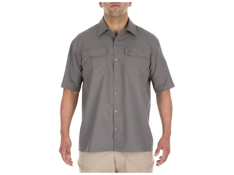 5.11 Men's Freedom Flex Button-Up Short Sleeve Shirt Polyester