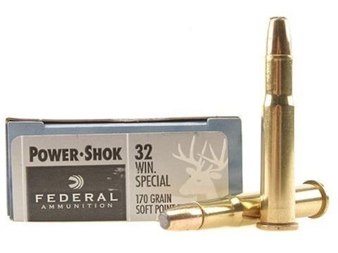 Federal Power-Shok Ammunition 32 Winchester Special 170 Grain Soft Point Flat Nose