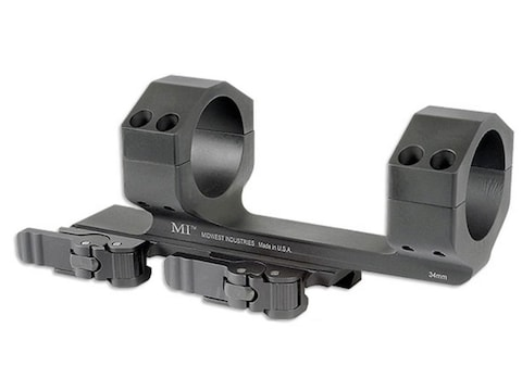 """Midwest Industries 34mm QD Scope Mount Picatinny-Style With 1.4"""" Offset Matte"""