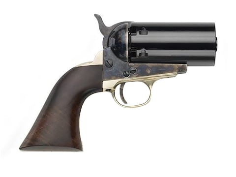 Pietta 1851 Navy Pepperbox Black Powder Revolver 36 Caliber Case Hardened Steel Frame