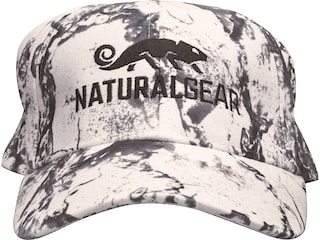 Natural Gear 6 Panel Logo Cap Natural Gear Snow Camo Polyester