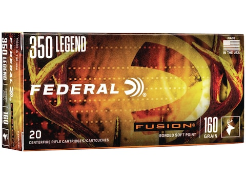 Federal Fusion Ammunition 350 Legend 180 Grain Bonded Spitzer Boat Tail