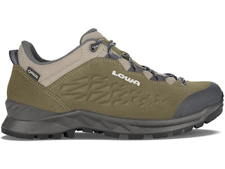 Lowa Explorer GTX Low Hiking Boots Leather Olive/Gray Men's 8 D