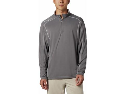 Columbia Men's PFG Low Drag 1/4 Zip Long Sleeve Shirt Polyester