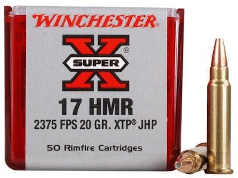 Winchester Super-X Ammunition 17 Hornady Magnum Rimfire (HMR) 20 Grain XTP Jacketed Hol...