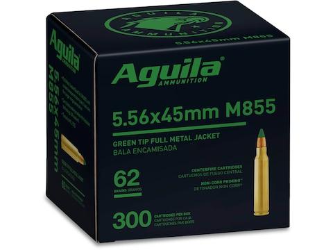 Aguila Ammunition 5.56x45mm NATO 62 Grain M855 SS109 Penetrator Full Metal Jacket