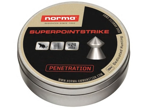 Norma Superpoint Srike Air Gun Pellets 22 Caliber 14.5 Grain Pointed Tin of 200